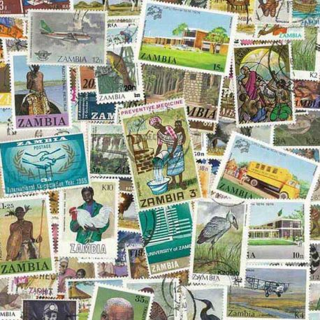 Sambia - 25 verschiedene Briefmarken