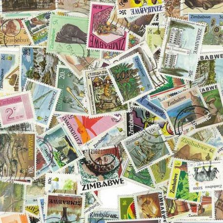Simbabwe - 25 verschiedene Briefmarken