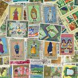 Sammlung gestempelter Briefmarken Algerien