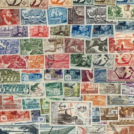 Collection de timbres Afrique Equatoriale Francaise oblitérés