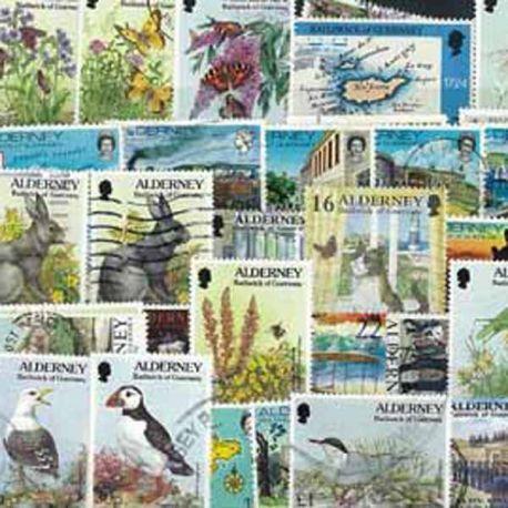 Alderney - 10 timbres différents