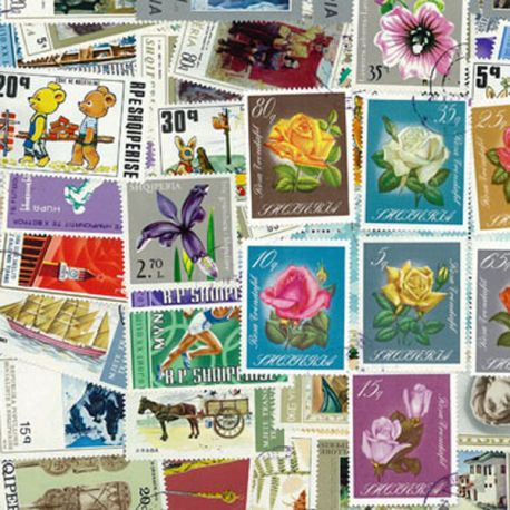 Albanie - 100 timbres différents