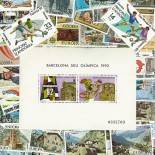 Spanische Sammlung gestempelter Briefmarken Andorra