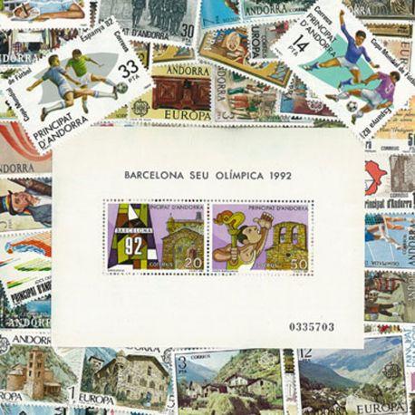 Collection de timbres Andorre Espagnol oblitérés
