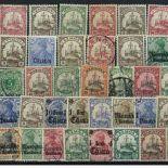 Collezione di francobolli Germania colonie usati