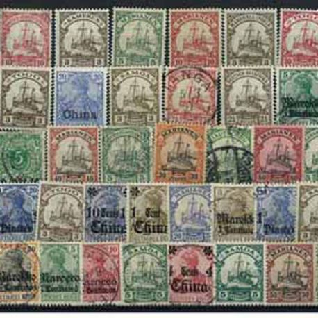 Allemagne Colonies - 10 timbres différents