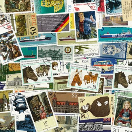 Collection de timbres Allemagne Est oblitérés