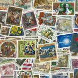 Sammlung gestempelter Briefmarken Österreich