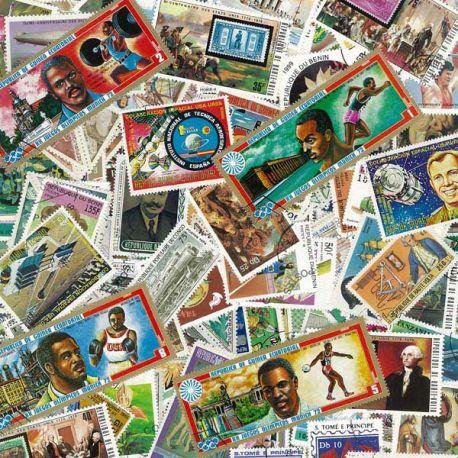 Afrique - 100 timbres différents