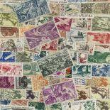Westliche Sammlung gestempelter Briefmarken französisches Afrika