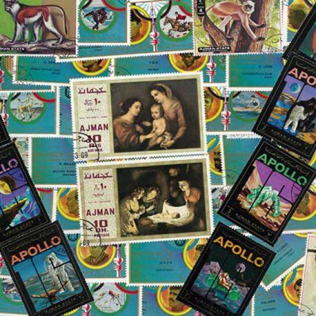 Ajman - 100 verschiedene Briefmarken