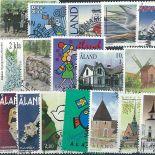 Collection de timbres Aland oblitérés