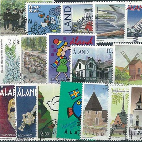 Collection de timbres Aland oblitérés