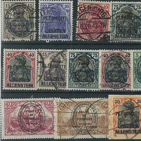 Allenstein - 20 verschiedene Briefmarken