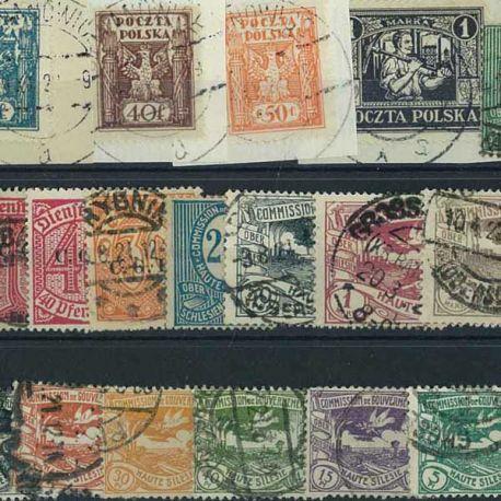 Ober Schlesien-Oberschlesien - 10 verschiedene Briefmarken