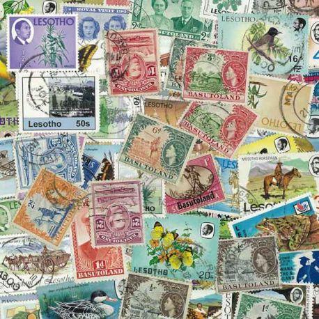 Basoutoland und Lesotho - 25 verschiedene Briefmarken