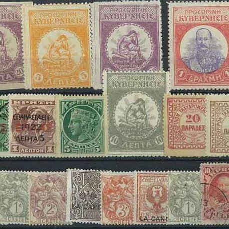Kreta - 10 verschiedene Briefmarken