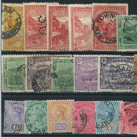 Tasmanien - 10 verschiedene Briefmarken