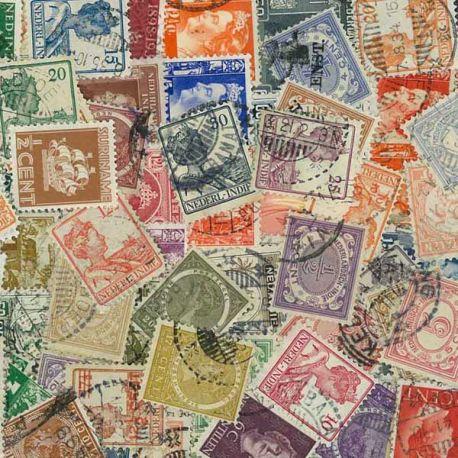 Collection de timbres Pays Bas Colonies oblitérés