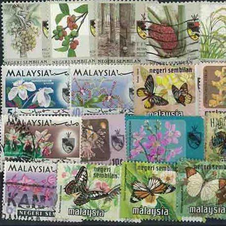 Negri Sembilan - 25 verschiedene Briefmarken