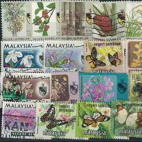 Collection de timbres Negri Sembilan oblitérés