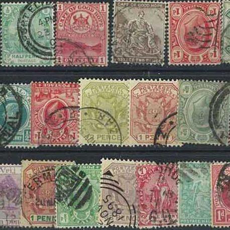 Natal Cap - 25 verschiedene Briefmarken