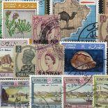 Sammlung gestempelter Briefmarken Mascate und Oman