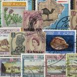 Stamp collection used Mascate And Oman