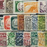 Sammlung bis 1940 gestempelter Briefmarken Lettland