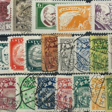 Lettland vor 1940-25 verschiedene Briefmarken