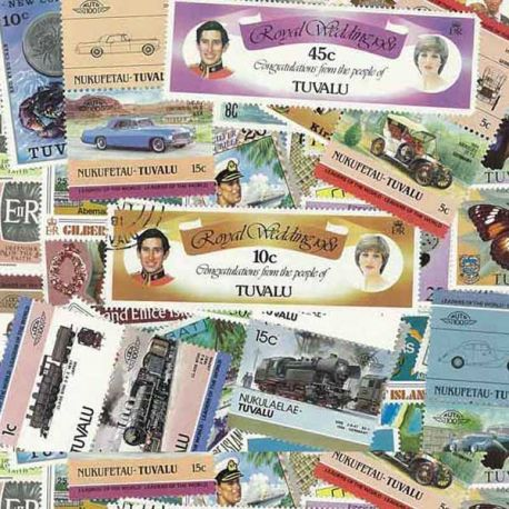Gilbert Kiri Tuva - 100 verschiedene Briefmarken