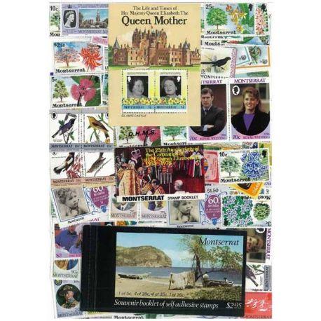 Collection de timbres Montserrat oblitérés