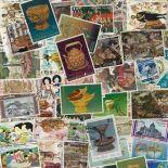 Sammlung gestempelter Briefmarken Thailand