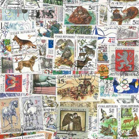 Tschechische Republik - 50 verschiedene Briefmarken