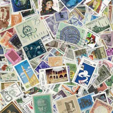 Turquie - 100 timbres différents