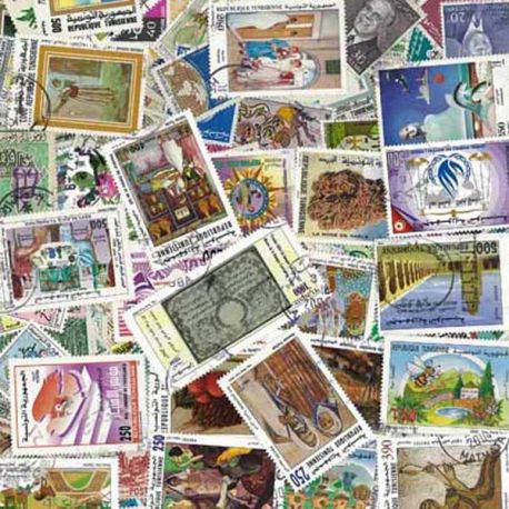 Tunisie - 25 timbres différents