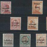 Sammlung gestempelter Briefmarken dreißig Triest