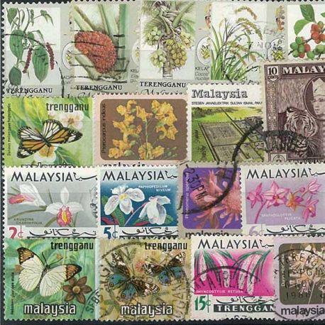 Terengganu - 25 verschiedene Briefmarken
