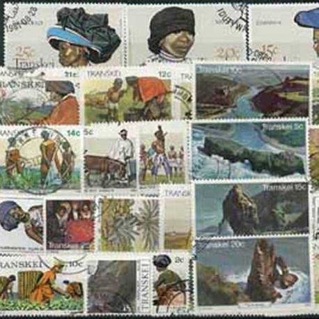 Collection de timbres Transkei oblitérés