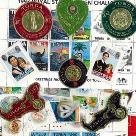 Tonga - 10 timbres différents