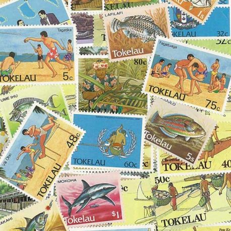 Collection de timbres Tokelau oblitérés
