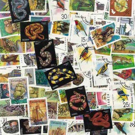 Tansania - 25 verschiedene Briefmarken
