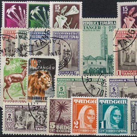 Tanger - 10 verschiedene Briefmarken