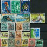 Tanganyka-Sammlung gestempelter Briefmarken