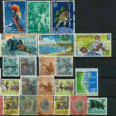 Tanganyka - 25 timbres différents