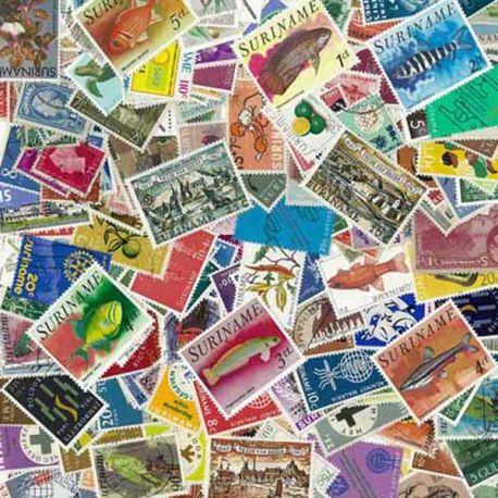 Suriname - 25 verschiedene Briefmarken