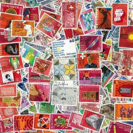 Suisse - 50 timbres différents