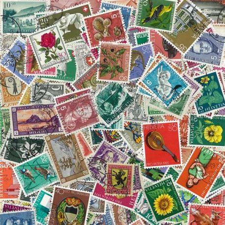 Suisse - 100 timbres différents