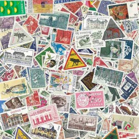 Schweden - 100 verschiedene Briefmarken