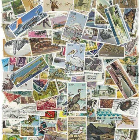 South West African - 25 verschiedene Briefmarken